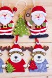 Kerstmisdecoratie met herten en Kerstman de achtergrond van Claus Royalty-vrije Stock Afbeelding