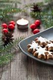 Kerstmisdecoratie met kaars Royalty-vrije Stock Afbeelding