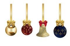 Kerstmisdecoratie met lint Royalty-vrije Stock Foto's