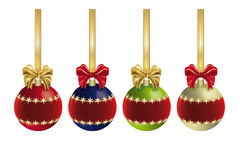 Kerstmisdecoratie met lint Stock Fotografie