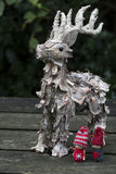 Kerstmisdecoratie met Rendier Royalty-vrije Stock Foto's