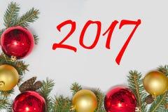 Kerstmisdecoratie met tekst Royalty-vrije Stock Foto's