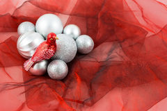 Kerstmisdecoratie met vogel Stock Foto