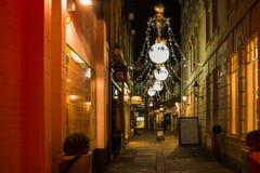 Kerstmisdecoratie op het Hof van Gee ` s in Londen, het UK Royalty-vrije Stock Fotografie