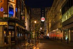 Kerstmisdecoratie op James Street in Centraal Londen, het UK Stock Fotografie
