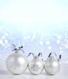 Kerstmisdecoratie op onduidelijk beeldachtergrond Zacht nieuw jaar wallpape Royalty-vrije Stock Afbeeldingen
