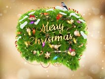 Kerstmisdecoratie op samenvatting Eps 10 Royalty-vrije Stock Foto