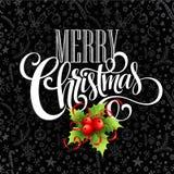 Kerstmisdecoratie op schoolbord Vector vector illustratie