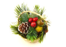 Kerstmisdecoratie op witte achtergrond Stock Foto's