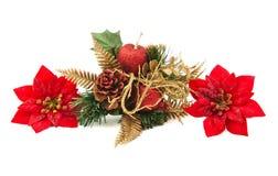 Kerstmisdecoratie op witte achtergrond Royalty-vrije Stock Foto's