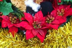 Kerstmisdecoratie op witte achtergrond Royalty-vrije Stock Foto