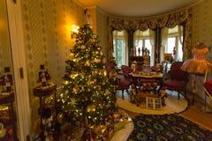 Kerstmisdecoratie in Pittock-Herenhuis Stock Foto's