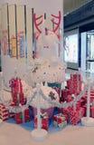 Kerstmisdecoratie in Popcorn Stock Foto's