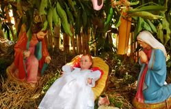 Kerstmisdecoratie Pulkoodu Kerala Stock Afbeelding