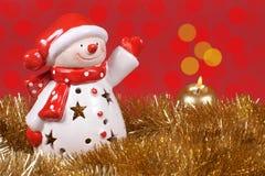 Kerstmisdecoratie, Santa Claus en kleurrijke gloed van licht royalty-vrije stock afbeeldingen