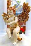 Kerstmisdecoratie van de cherubijnengel stock afbeelding