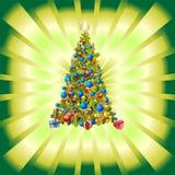 Kerstmisdecoratie van de Kerstboom stock illustratie