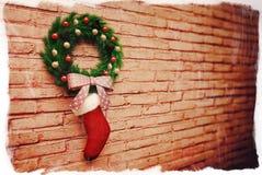 Kerstmisdecoratie van de sokgift Stock Foto's