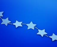 Kerstmisdecoratie van zilveren sterren Stock Illustratie