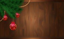 Kerstmisdecoratie, vector Stock Afbeelding