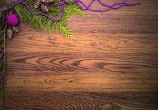 Kerstmisdecoratie voor een prentbriefkaar stock afbeelding