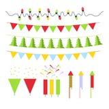 Kerstmisdecoratie voor Kerstboom wordt geplaatst die en Royalty-vrije Stock Afbeelding