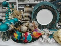 Kerstmisdecoratie voor Verkoop Royalty-vrije Stock Foto's