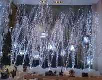 Kerstmisdecors en lichten Royalty-vrije Stock Foto's