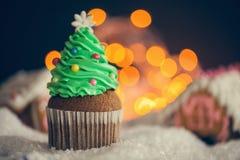 Kerstmisdessert stock foto's