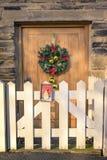 Kerstmisdeur Royalty-vrije Stock Afbeelding