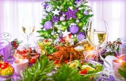 Kerstmisdiner royalty-vrije stock fotografie