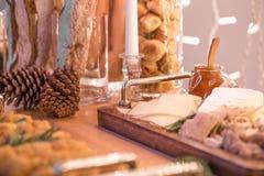 Kerstmisdiner in de in aanbouw Bouw royalty-vrije stock foto's
