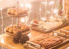 Kerstmisdiner in de in aanbouw Bouw royalty-vrije stock afbeeldingen