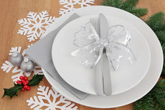 Kerstmisdiner het Plaatsen Stock Afbeelding