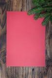 Kerstmisdocument blad stock foto