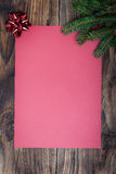 Kerstmisdocument blad royalty-vrije stock fotografie