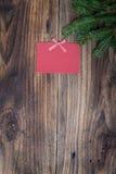Kerstmisdocument blad Stock Afbeeldingen