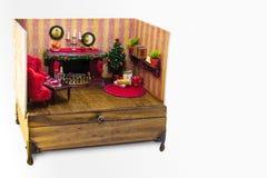 Kerstmisdoos, miniatuur royalty-vrije stock foto's