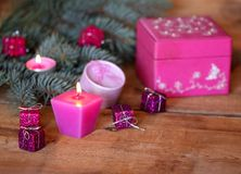 Kerstmisdozen stock afbeelding
