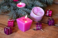 Kerstmisdozen stock afbeeldingen