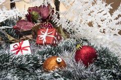 Kerstmisdozen, speelgoed en giften Royalty-vrije Stock Afbeelding