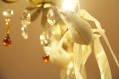 Kerstmisduif met linten Royalty-vrije Stock Fotografie