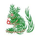 Kerstmiseekhoorn en Speelgoed Stock Fotografie