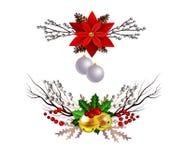 Kerstmiselementen voor uw ontwerpen stock illustratie