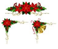 Kerstmiselementen voor uw ontwerpen Stock Foto's