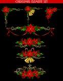 Kerstmiselementen voor uw ontwerpen Stock Afbeelding