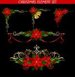 Kerstmiselementen voor uw ontwerpen Royalty-vrije Stock Afbeeldingen