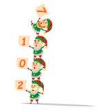 Kerstmiself acrobatisch presteren Royalty-vrije Stock Foto