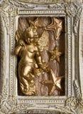 Kerstmisengel van het frame royalty-vrije stock afbeeldingen