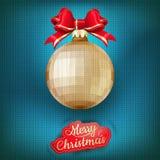 Kerstmisetiket op een gebreide achtergrond Eps 10 Royalty-vrije Stock Afbeelding